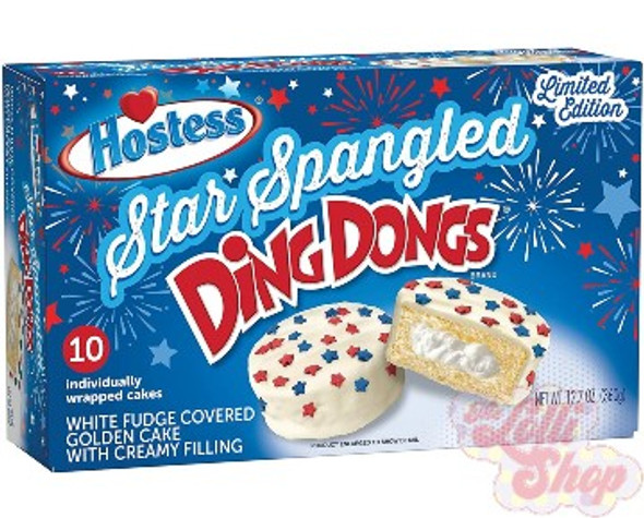 Hostess Star Spangled Ding Dongs - Box of 10
