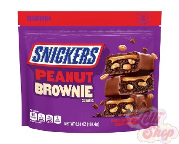 Snickers Peanut Brownie Sharing Bag 187g