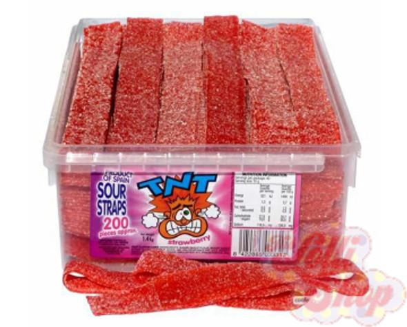 TNT Sour Straps Strawberry