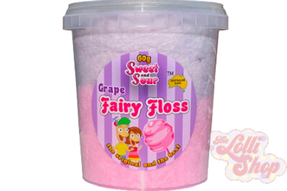 Sweet and Sour - Fairy Floss Grape 60g