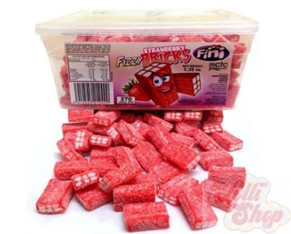 Fini Fizzy Strawberry Bricks 100g