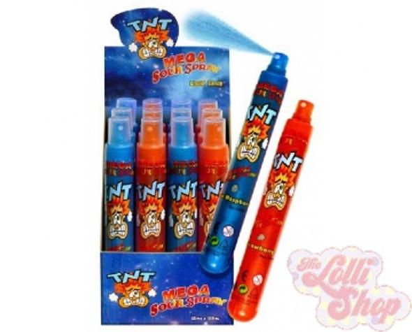 TNT Mega Sour Spray Blue Raspberry / Strawberry 110ml