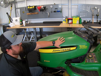 How to Install a Throttle Cable on a John Deere Riding Lawn Mower