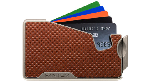 Fantom R - Brown Dot Embossed Leather