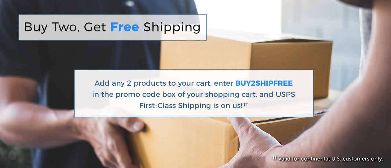 buy two products get free shipping