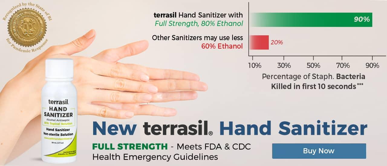 terrasil hand sanitizer 80% Ethanol