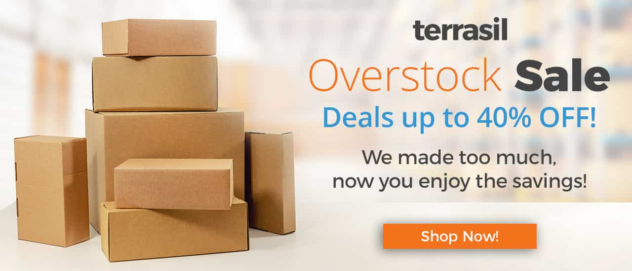 save up to 40% on overstock items