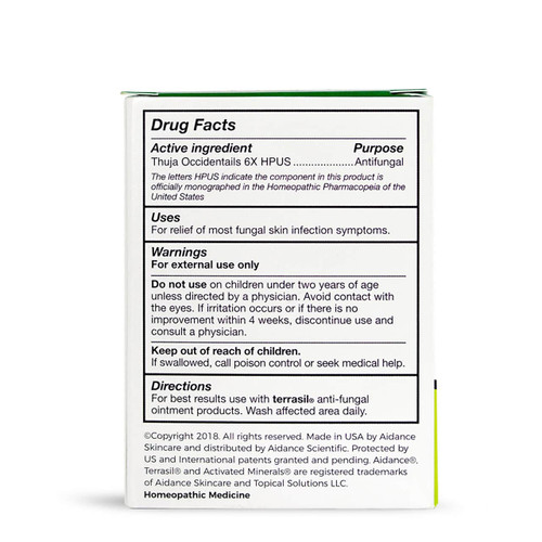 terrasil Anti-Fungal Cleansing Bar, packaging back