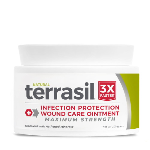 terrasil Infection-Protection Wound Care Ointment MAX strength, 200 gram jar