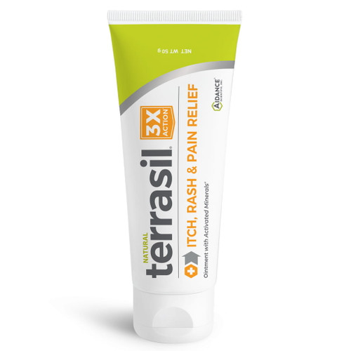 terrasil Itch Rash and Pain Relief Ointment, 50 gram tube