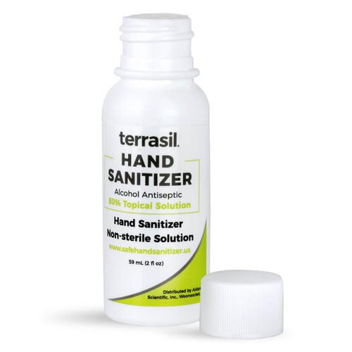 terrasil hand sanitizer 2 oz  squeeze
