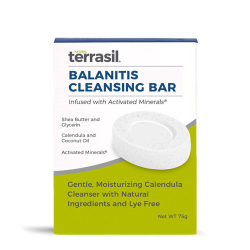 terrasil balanitis cleansing bar, soap, 75 gram