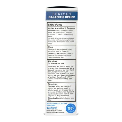terrasil Serious Balanitis Relief kit - box side1