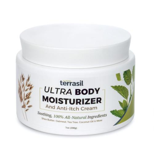 terrasil Ultra Body Moisturizer and Anti-Itch Cream, 200 gram jar