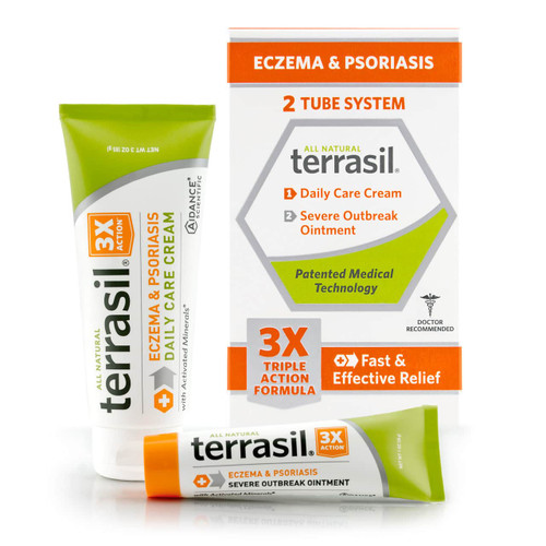 terrasil Eczema and Psoriasis 2-Tube System
