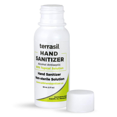 terrasil hand sanitizer 2 oz  squeeze