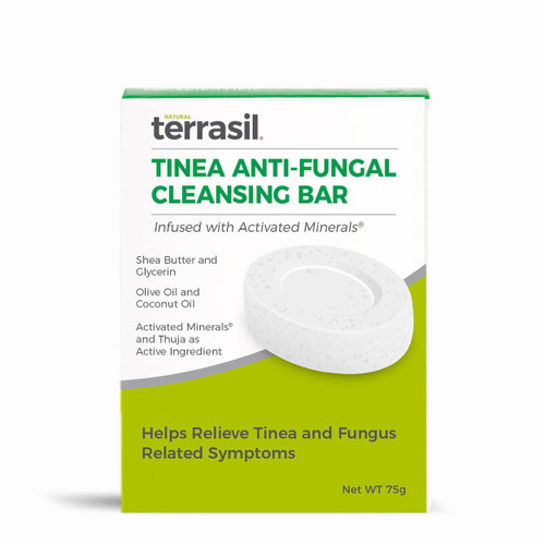terrasil Tinea Anti-Fungal Cleansing Bar, Soap - 75 grams