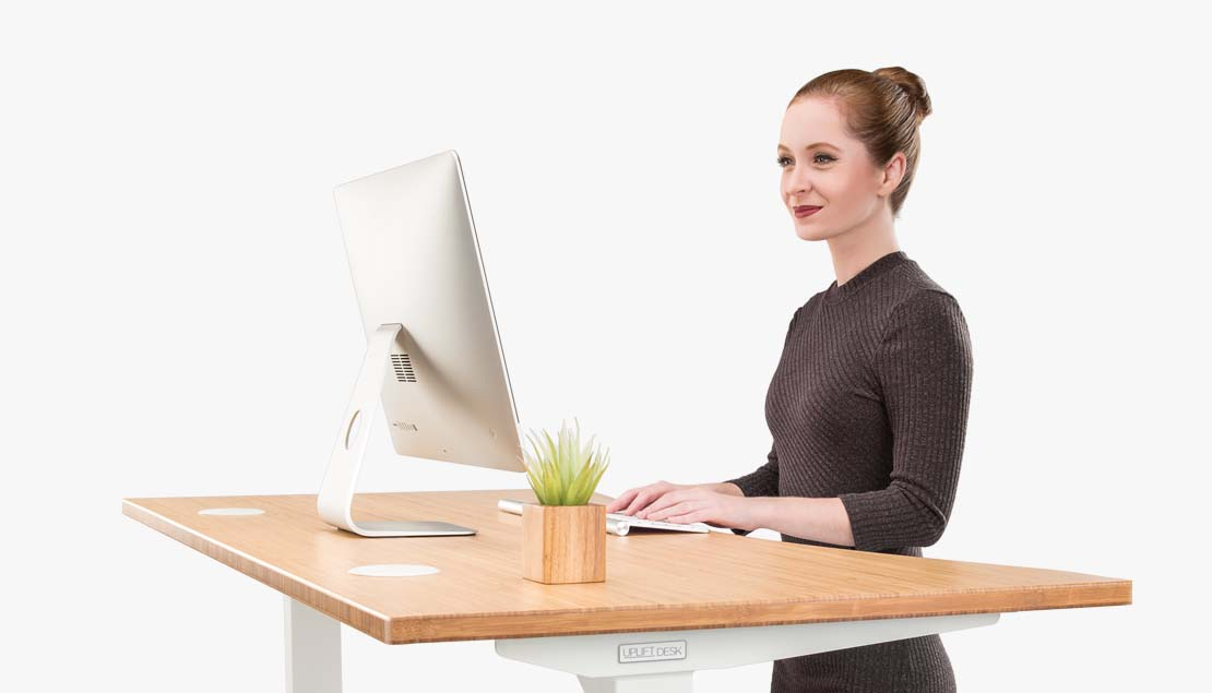 Customer Service Representative Using A Standing Desk
