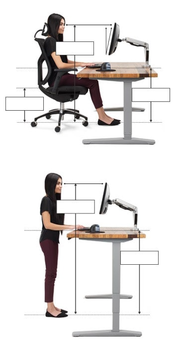 Ergonomic Calculator Uplift Desk