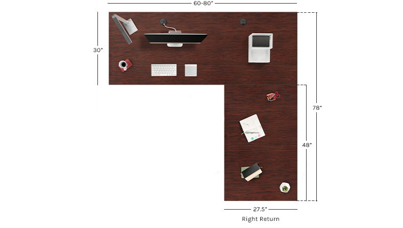 UPLIFT V2 Custom Laminate L-Shaped Height Adjustable Desk