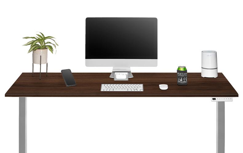 walnut ergonomic desk