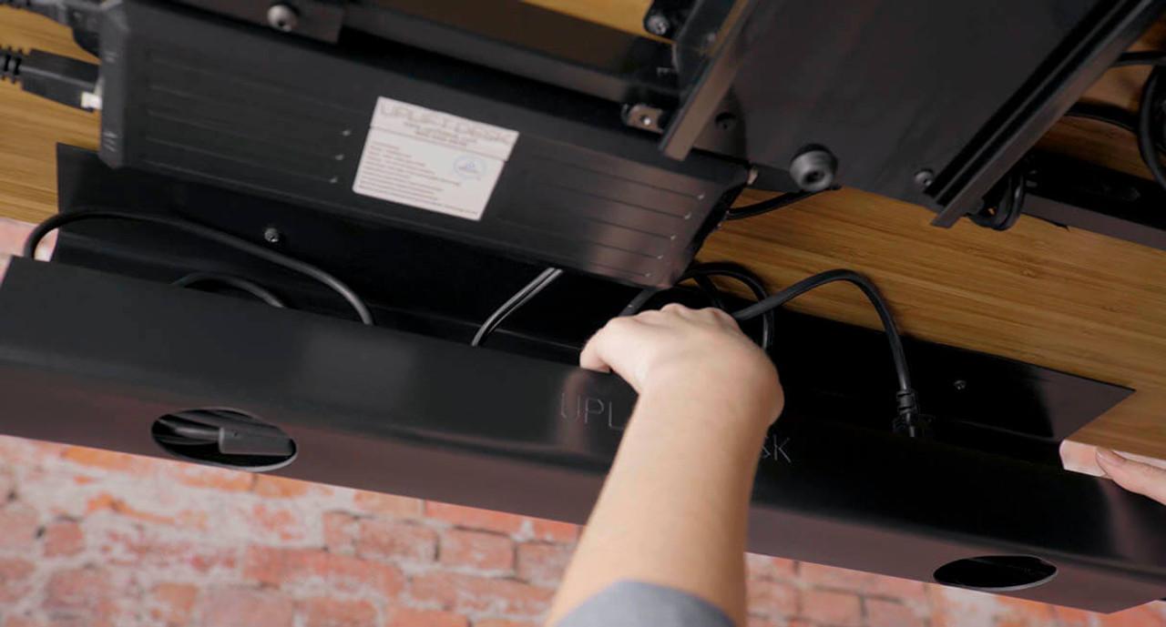 Advanced Wire Management Kit | UPLIFT Desk on desk power grommet, desk grommet 2, lamps office computer desk grommet, 3 desk grommet, desk grommet covers, desk aluminum grommet, metal rectangular desk grommet, pc desk grommet, 5 rectangular white desk cable grommet, desk grommet sizes,