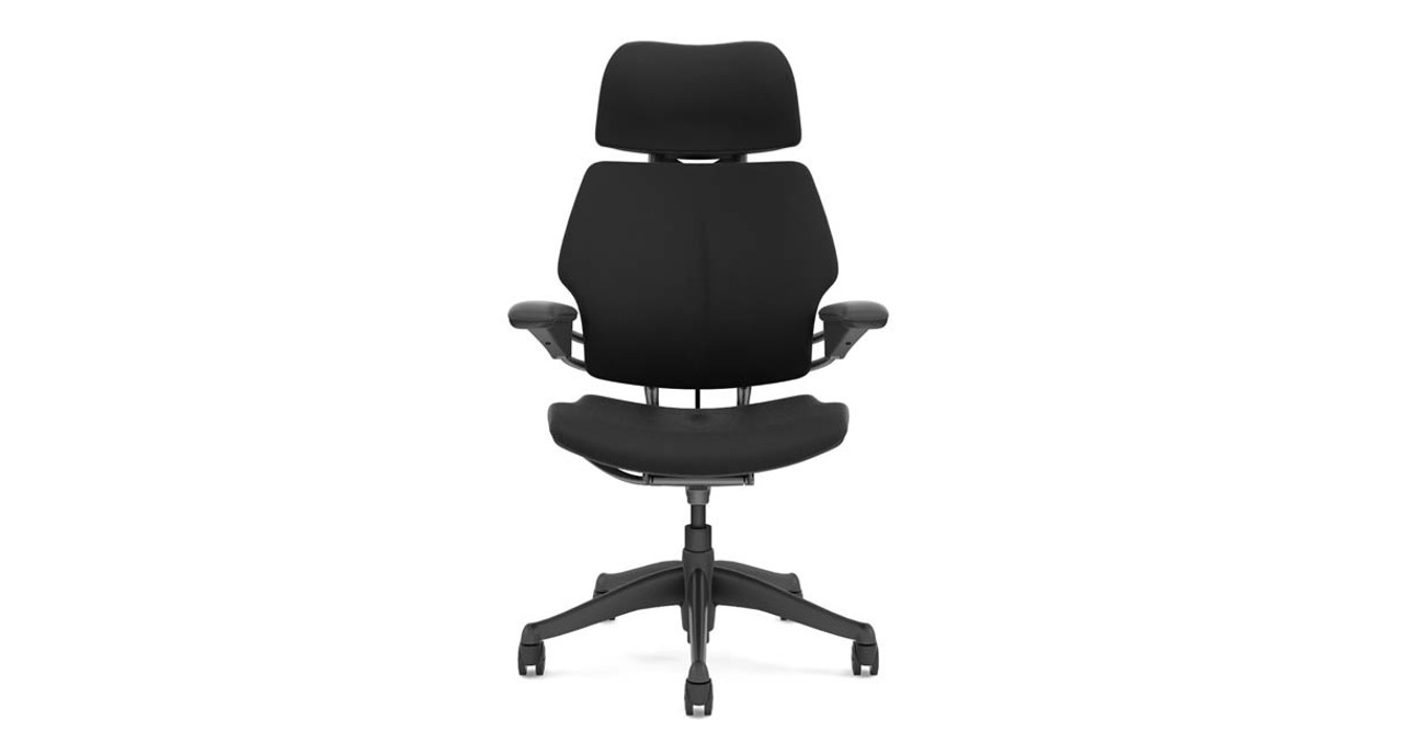 The Freedom Chairu0027s position-sensitive headrest moves into place when you recline and out of  sc 1 st  UPLIFT Desk & Humanscale Freedom Chair with Headrest | UPLIFT Desk