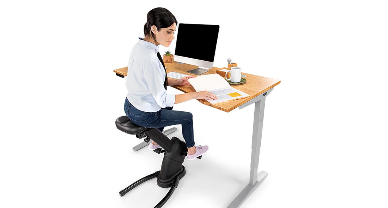 Black LifeSpan Fitness Under Desk Bike LifeSpan Solo Under Desk Office Bike