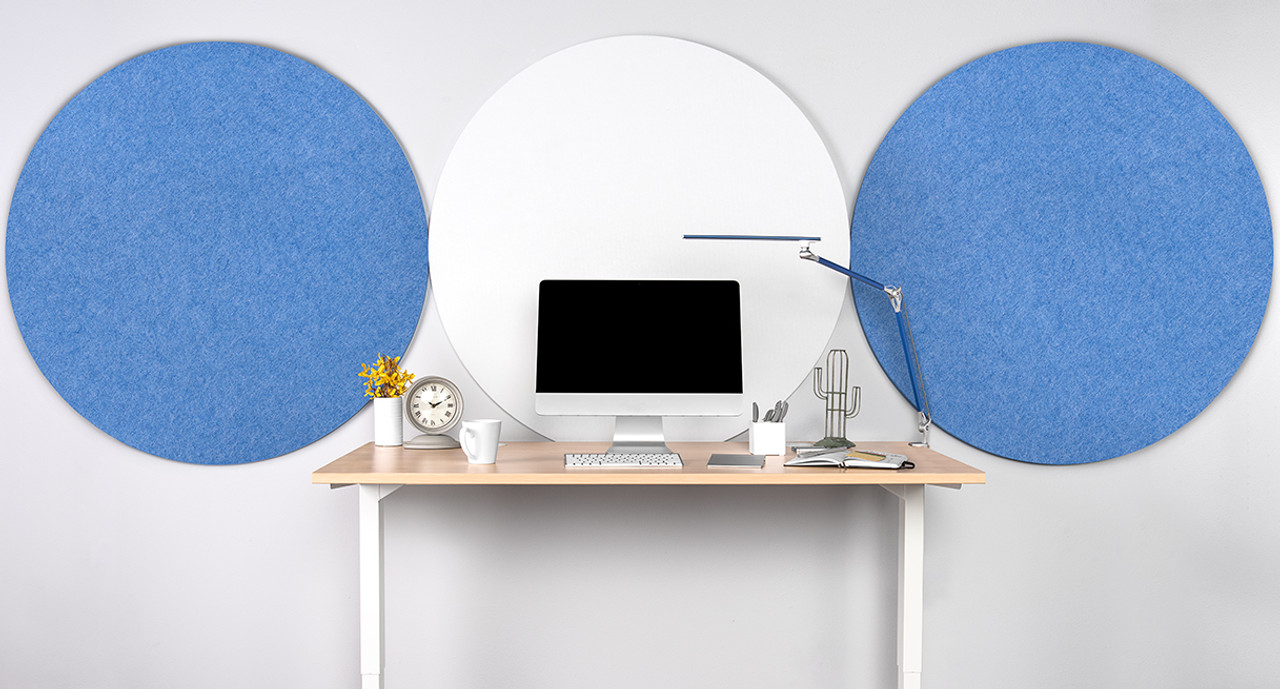 Circular Acoustic Wall Panel by UPLIFT Desk