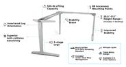 UPLIFT V2 L-Shaped Standing Desk Frame
