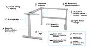 UPLIFT V2 Commercial L-Shaped Standing Desk Frame