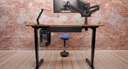 Keep the clean look at your ergonomic workstation with a little wire management