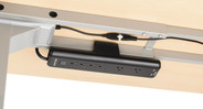 Can be clamped to the frame's crossbars or to the desktop directly