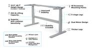 UPLIFT V2 Commercial Standing Desk Frame
