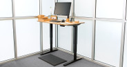This natural-finish UPLIFT V2 Rubberwood Standing Desk uses solid wood from rubber trees that have reached the end of rubber production—making it both a durable and eco-friendly desktop.