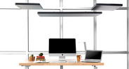 Enjoy better sound absorption with Rectangular Acoustic Ceiling Clouds by UPLIFT Desk