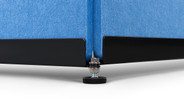 Adjust the feet on the 3-Panel Acoustic Room Divider to level the divider on less-than-even floors