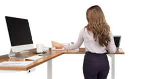 Height Adjustable Standing Desk with L-Shaped Tops: In Stock and Ready for You!