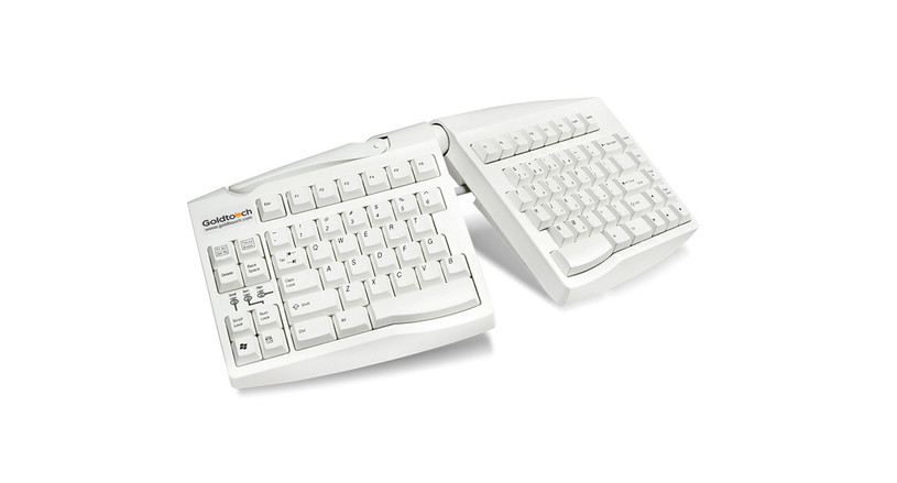 Enjoy more comfort at the keys with the Goldtouch Adjustable Ergonomic Keyboard