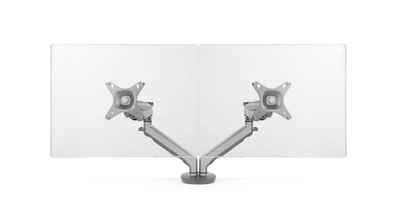 Adjustable tension in the Horizon Dual Monitor Arm for Heavier Monitors lets you pose your monitors where you want them