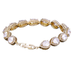 Cubic Zirconia Collection - Exquisite Crystal Treasure Bracelet - Gold