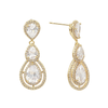 Cubic Zirconia Collection - Crystal Treasure Earrings - Gold