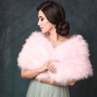 Marabou Feather Wrap - Candy Floss Pink