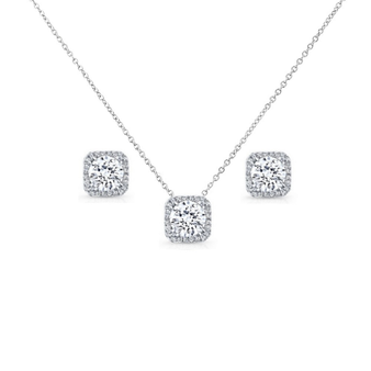 Cubic Zirconia Collection - Chic Crystal Necklace Set