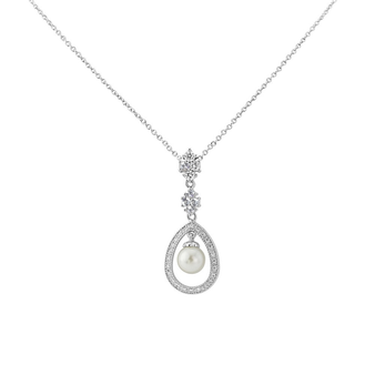 Cubic Zirconia Collection - Simply Divine Necklace