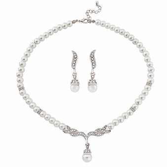 Chic Pearl Set - Silver