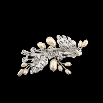 Vintage Chic Hair Clip - Silver