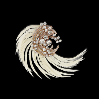 Adoria Luxe Feather Headpiece - Rose Gold