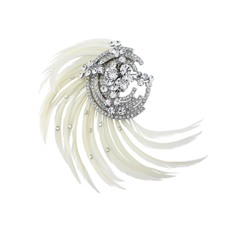 Adoria Luxe Feather Headpiece - Silver