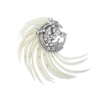 Adoria Luxe Feather Headpiece - Silver